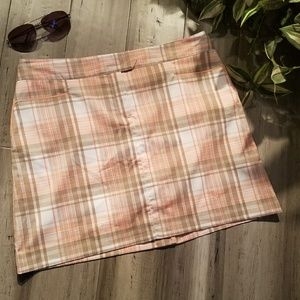 IZOD Cool FX FXG Pink Plaid Skort Size 8